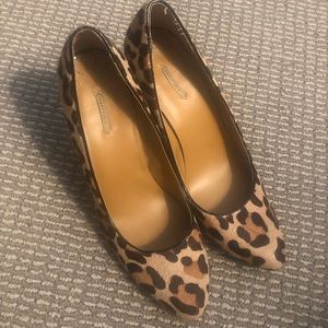 Max Studio Leopard Faux Fur Wedges, Size 9